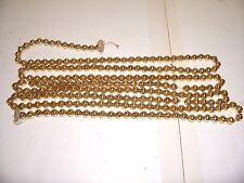 Vtg 8 Ft. Gold Mercury Glass Bead Christmas Feather Tree Garland Paper Discs