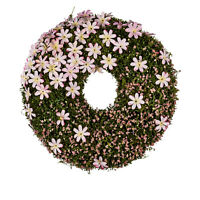 Kranz Deko Türkranz Blumenkranz Blumen, Frühling Ostern grün rosa Kunstblume