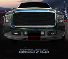 Fits 2005-2007 Ford F-250 F350 F450 F550 Excursion Black Billet Grille Grill 1PC