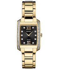 Seiko Women's Solar Diamond Collection Gold Tone Steel Watch SUP406