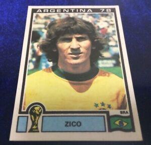 Rare Panini World Cup Argentina 78 Zico Rookie Unused Vintage Album Sticker #254