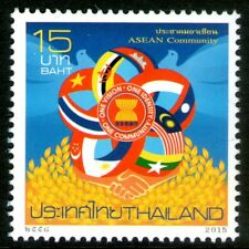 Thailand 2015 15Bt ASEAN Community Mint Unhinged