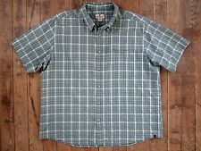 Men's Woolrich XXL Shirt  2XL Modal/Poly Blend Big Light Olive 6058 Plaid Green