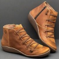 Women's Winter Autumn Side Zip Ankle Boots Platform Heel Arch Support Shoes 2019