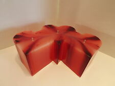 """Red streaks Wedding Heart Candle scented ,3 hearts, 3 wick 8 1/2' wide x 3"""" tall"""