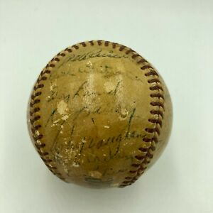 1948 Brooklyn Dodgers Team Signed Official Branch Rickey Baseball Arky Vaughan