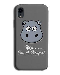 Kids Hippo Phone Case Cover Funny Hippopotamus Hippos Cartoon Goggly Eyes si198