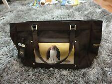 Rare Anya Hindmarch Bunny Brown Canvas And Leather Handbag Tote Bag. VGC.