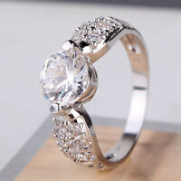 Appealing 18k white gold filled white sapphire Hot sale twinkling ring SzJ-SzR