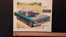 1964 PONTIAC - Acadian Beaumont - Dealer Color Sales Catalog Brochure G (CDN)