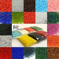 Rocailles Perlen 3mm Glasperlen 20g - 100g Ceylon Opak Silbereinzug Farbauswahl