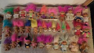 Vintage/Rare Russ/Dam Troll Dolls  Lot of 36 Various Sizes