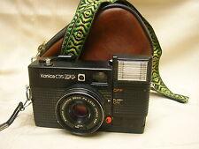 Konica C35 EF P 35mm Rangefinder Camera Hexinon 38mm F4 Lens Bag & Strap