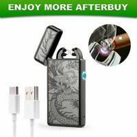 Electric Lighter Windproof Rechargeable Double Arc Flameless Plasma USB