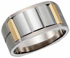 Dolan Bullock tungsten titanium  Stl  18k gold  ring nrg018000 msrp $425