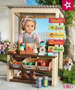 NEW American Girl KIT Doll Garden Stand Play Set Farm Market - Retired