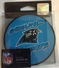 Carolina Panthers 4 pack Vinyl Coasters Set  New   NFL Licensed