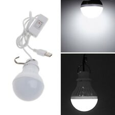 5W 10 LED Energy Saving USB Bulb Light Home Camping Night Lamp Hook Switch Wire