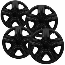 """4 Pc Hubcaps Fits Select Auto Truck Suv 16"""" Ice Black Replacement Wheel Cover"""
