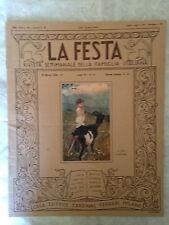 RIVISTA LA FESTA N.12 1928 FRANZ SCHUBERT PITTURA OLANDESE G. ZOPPI A. M. NARDI