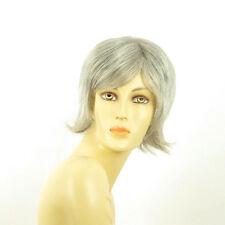 Perruque femme grise cheveux lisses ref  CAPUCINE 51