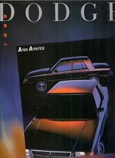 Dodge Aries America 1989 USA Market Foldout Sales Brochure 2-dr 4-dr 2.2 2.5