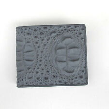 VERY NICE !! PATTERN CROCODILE SKIN LEATHER BIFOLD WALLET,FOR YOU