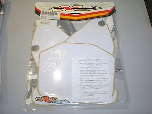 Yamaha YZ YZ85 New WHITE Precut Number Plate Backgrounds N-Style 2002-2010 85