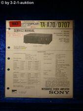 Sony Service Manual TA A70 / D707 Amplifier  (#0883)