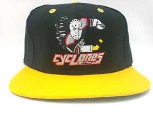 Cincinnati Cyclones Hat Vintage Flat Bill Snapback Wool Blend 2-Tone Hat