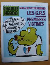 Rare Affiche CHARLIE HEBDO REISER N° 456 C.R.S. Maladie Venerienne