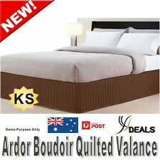 Ardor Boudoir KING Single Bed Quilted Valance - MOCHA