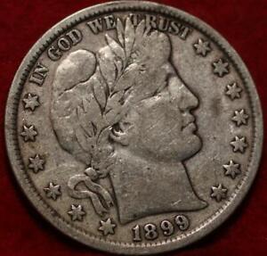 1899 Philadelphia Mint Silver Barber Half Dollar