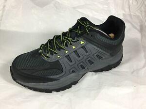 Avia Waterproof Hiking Leather Boot Shoe Mens 8 W Wide Black Neon Green 28802104