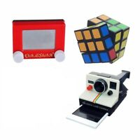 Worlds Smallest Bundle Rubik's Cube, Polaroid Camera, Etch a Sketch (Set of 3)