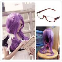 Tokyo Ghoul Kamishiro Rize Purple Mix Straight Wig Cosplay Ribbon + FREE Glasses