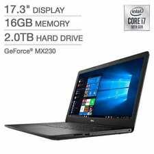 "Dell Inspiron 17.3"" i7-1065G7 16GB Memory 2TB HDD DVD-RW i3793-7336BLK-PUS"