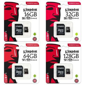 Kingston SDCS 16/32/64/128GB MicroSD Class 10 UHS-I Speicherkarte 80MB/s