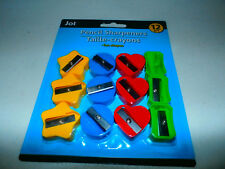 12 Heart Flower Small Pencil Sharpeners School Supplies Birthday Party Favors