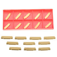 New 10pcs MGMN200-G 2mm Carbide Insert for MGEHR/MGIVR Grooving Cut-off Tool BE