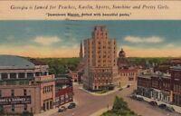 Postcard Downtown Macon Georgia 1942