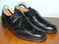 "CHARLES TYRWHITT ""COMPTON"" LEATHER MONK BUCKLE BROGUE SHOES"