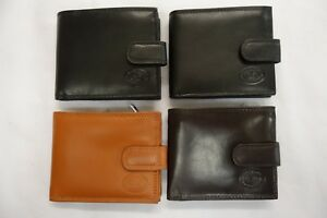 High Quality Luxury Mens Soft Leather Wallet With Large Zipped Coin Pocket RFID