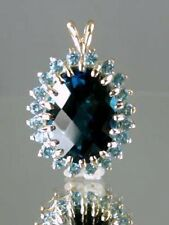 London Blue Topaz, 14KY Gold Pendant, P270