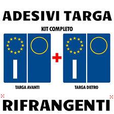 Adesivo vinile targa sigla auto europa metodo serigrafico durata illimitata RIFR