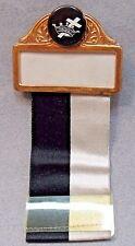 circa 1920's KNIGHTS TEMPLAR Name Badge and Ribbon Masons pin badge medal  +