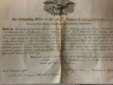 New Listingcivil war original period items Muster Rolls, Letters, Documents Lot