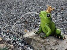 XL Froschkönig Wasserspeier groß, Garten Teich Springbrunnen figur Wetterfest