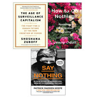Age of Surveillance,How To Do Nothing,Say Nothing 3 Books Collection Set NEW