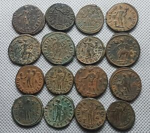 Ancient Roman Imperial Big follis Lot Of 16 3rd Century AD TOTAL WEIGHT: 87 gram